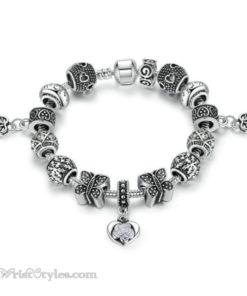 Vintage Silver Butterfly Charm Bracelet WO448026CB 4