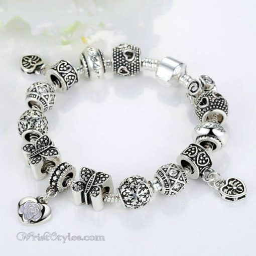 Vintage Silver Butterfly Charm Bracelet WO448026CB 5