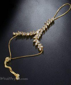 Gold Vine Hand Chain NA424601HC 2