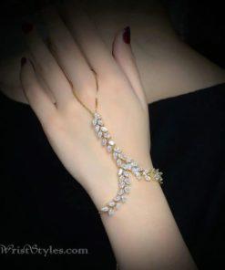 Gold Vine Hand Chain NA424601HC