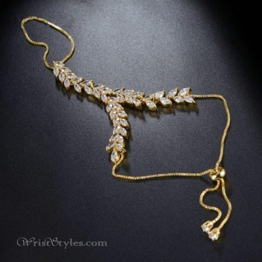 Gold Vine Hand Chain NA424601HC 3