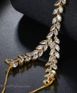 Gold Vine Hand Chain NA424601HC 4