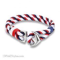 Silver Anchor Rope Bracelet MK679588CB