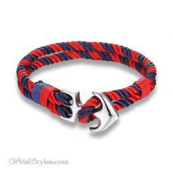 Silver Anchor Rope Bracelet MK679588CB 4