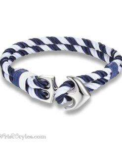 Silver Anchor Rope Bracelet MMK679588CB 3